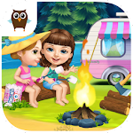 Sweet Baby Girl Summer Camp Icon