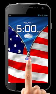 Download US Flag Zipper Lock Free APK