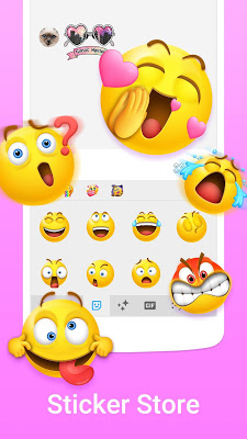 Facemoji Emoji Keyboard - Cute Emoji,Theme,Sticker - screenshot