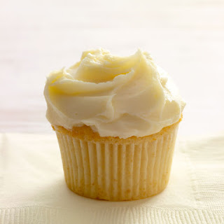 White Chocolate Cupcake.