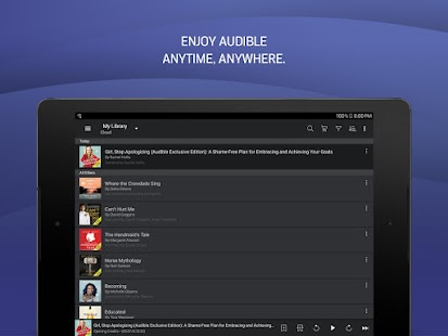 Audible: audiobooks, podcasts & audio stories Screenshot
