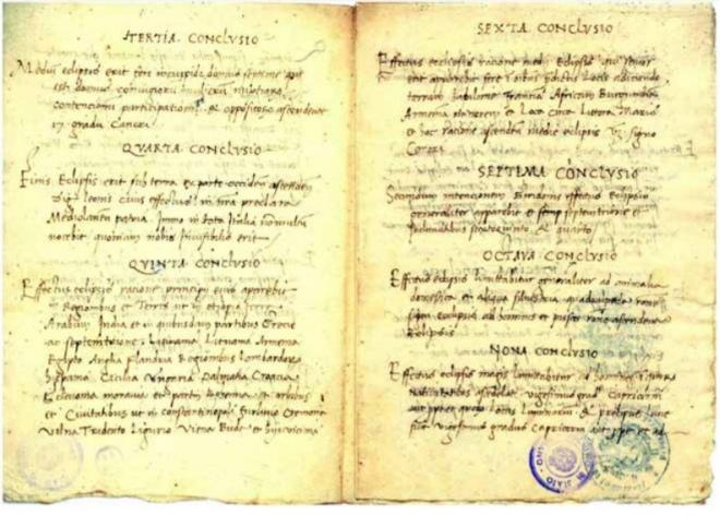 Сторінки з рукопису Юрія Дрогобича. 1479 рік