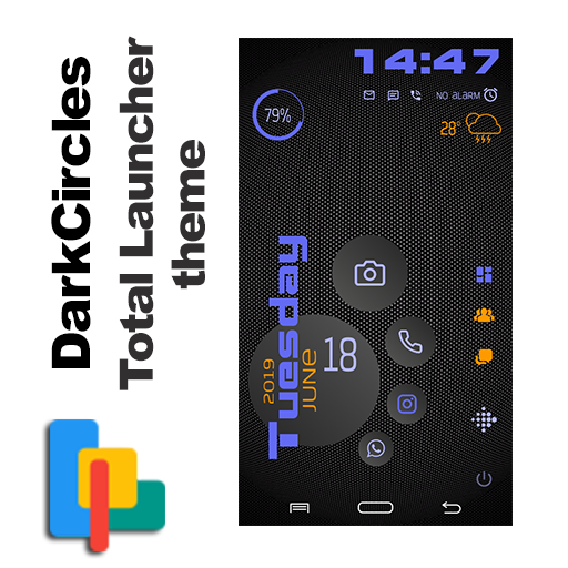 DarkCircles theme for Total Launcher