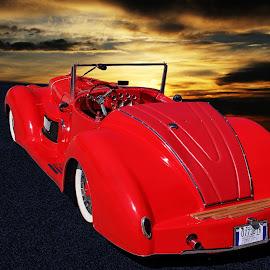 Nice Tush! by JEFFREY LORBER - Transportation Automobiles ( dreamer, lorberphoto, rust 'n chrome, ford, 1932, jeffrey lorber )