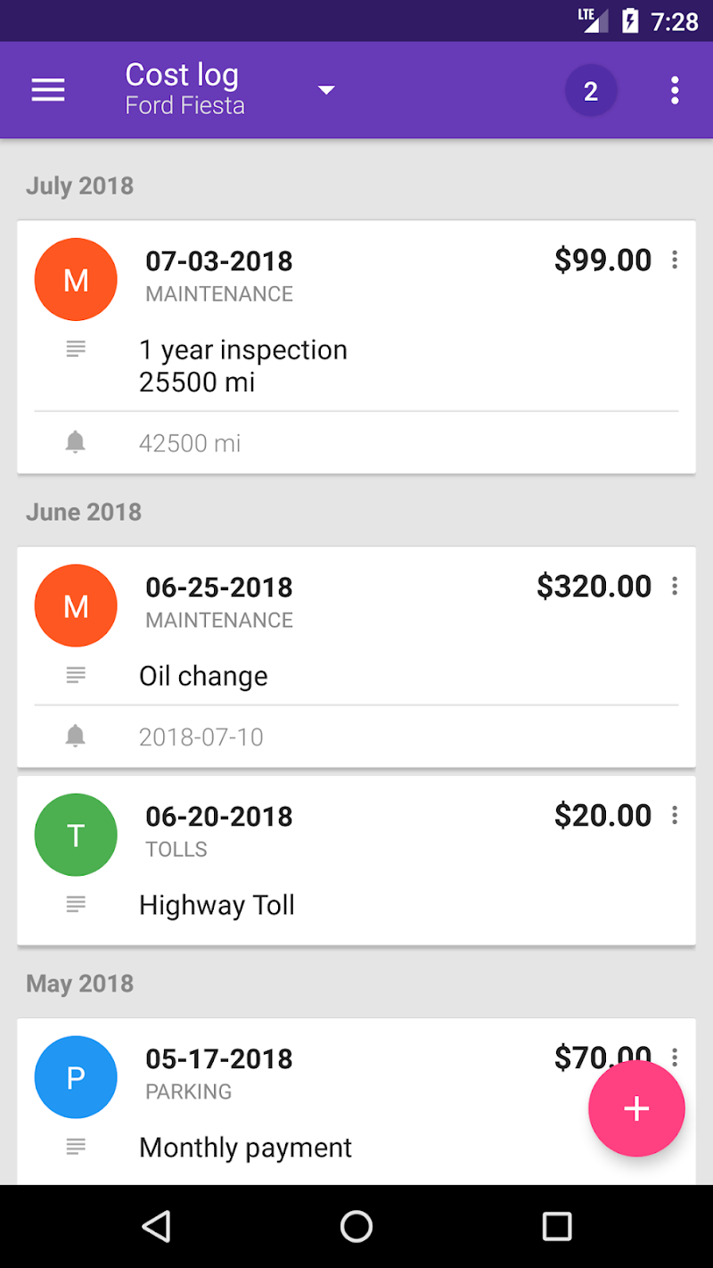 Fuelio: Gas log & costs Screenshot 4