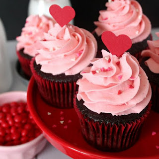 Red Hot Cinnamon Chocolate Cupcakes.
