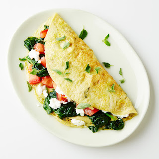 Goat Cheese, Spinach and Tomato Omelet Recipe