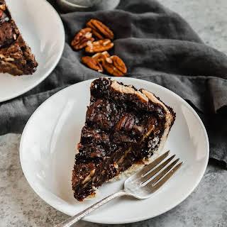 Chocolate Vegan Pecan Pie.