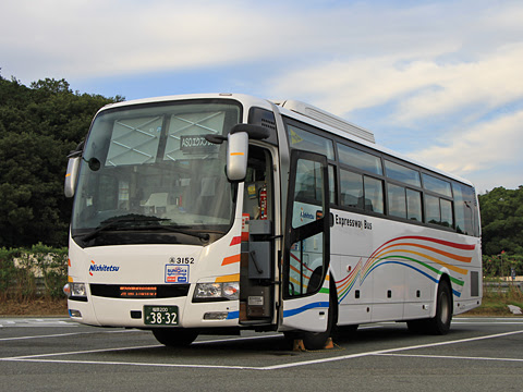西鉄「ASOエクスプレス」 3152(HARMONY) 北熊本SAにて