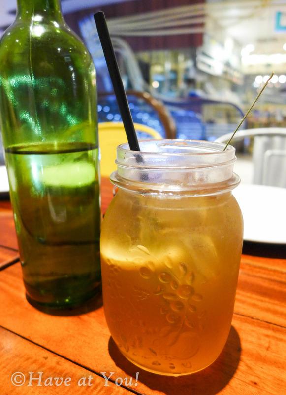 a mason jar filled with ginger lemongrass tea