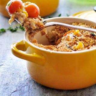 Tomato Corn Au Gratin (French Style Creamy Tomato And Corn Bake)