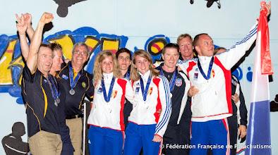 Photo: Équipe de France de Voile Contact à 2 Champions du Monde 2014 !