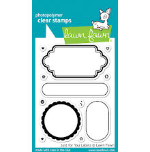Lawn Fawn Clear Stamps 3X4 - Just For You Labels