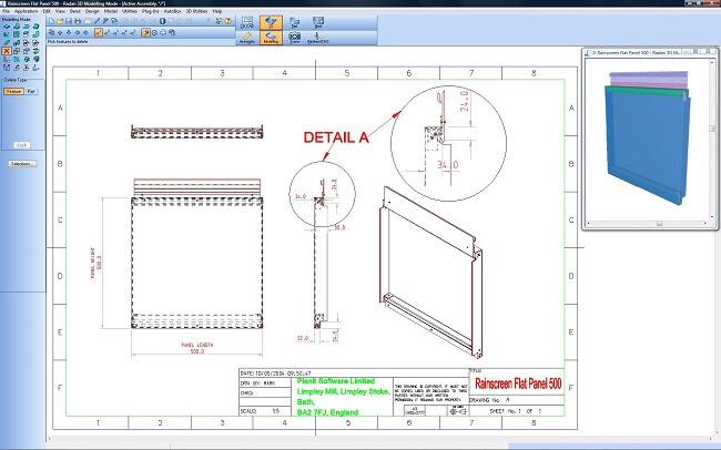 Radan Radraft - мощное CAD-приложение для черчения и проектирования обьектов в 2D, идеально отвечающее требованиям производств изделий из листового металла.