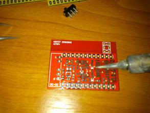 Photo: soldering filter board