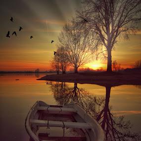 On the lake by Dunja Milosic Odobasic - Digital Art Places (  )