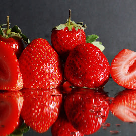 strawberries by Peter Salmon - Food & Drink Fruits & Vegetables