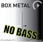 No bass metal backing track