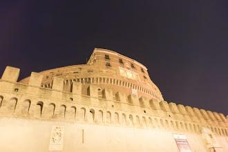 Photo: Castel Saint Angelo at night, Rome, Italy