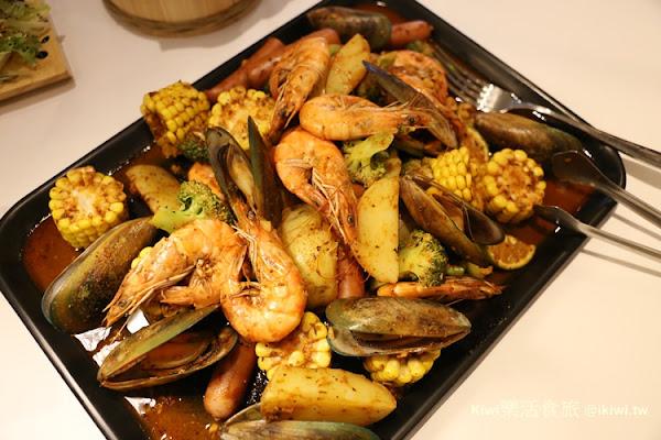 西區妃黛美式海鮮餐廳 澎派海鮮大餐手抓才對味!火焰披薩秀/50公分高冰柱歡樂派對(近台中美術館餐廳)