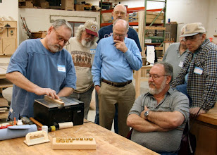 Photo: Watching Michael Blake at the Mini Table Saw