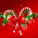 Candy Cane Hot Candy New Tab Page HD Theme