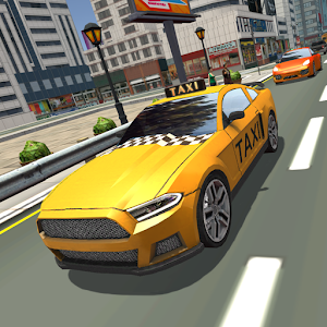 Crazy taxi driver simulator for PC and MAC