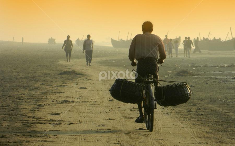 On his way... by Ajay Halder - People Street & Candids