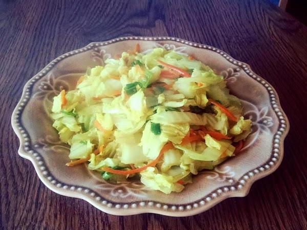 Smoky Napa Cabbage Stir Fry Recipe