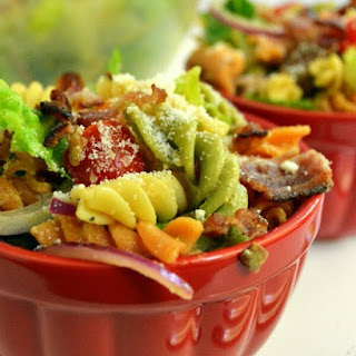 Bacon Caesar Pasta Salad