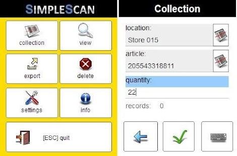 SimpleScan - Barcode Capturing - náhled
