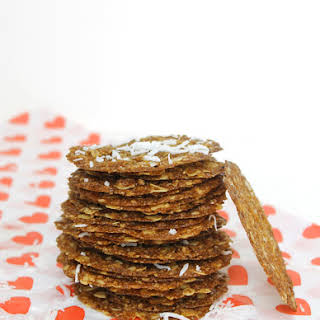 Coconut Oatmeal Lace Cookies.