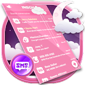 Lovely SMS Theme Pink