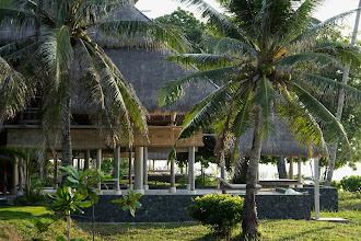 Photo: Nikoi Island beach houses on NW side of the island