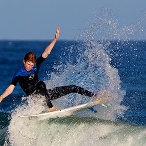 Floater by Julie Steele - Sports & Fitness Surfing ( balance, steele, surfer, wave )