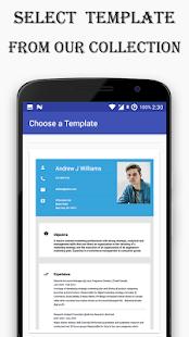 resume builder template free cv