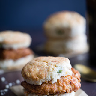 Fried Chicken Jalapeno Cheddar Biscuit Recipe