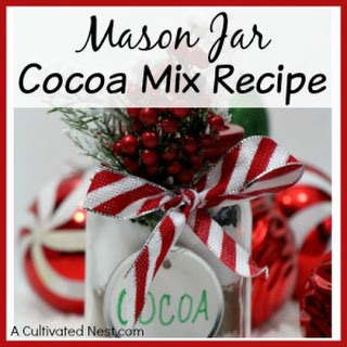 Holiday Mason Jar Cocoa Mix