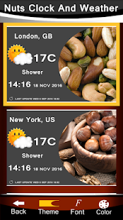 Nuts Clock And Weather - náhled