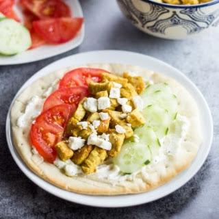 20 Minute Mediterranean Chicken Pita Sandwich.