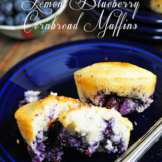Lemon Blueberry Cornbread Muffins