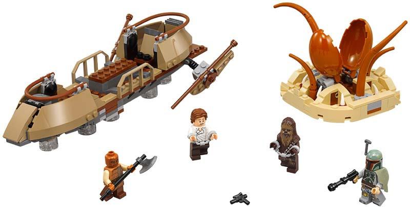Contenido de Lego® 75174 Huida del Esquife del Desierto