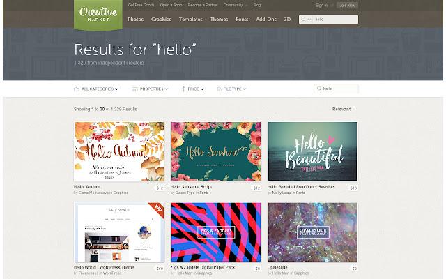 CreativeMarket Search