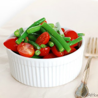 Green Bean and Tomato Salad with Salt and Pepper Dressing - an easy, whole food side dish