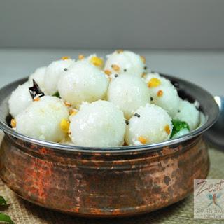 Ammini kozhukattai/ Seasoned steamed rice flour balls.