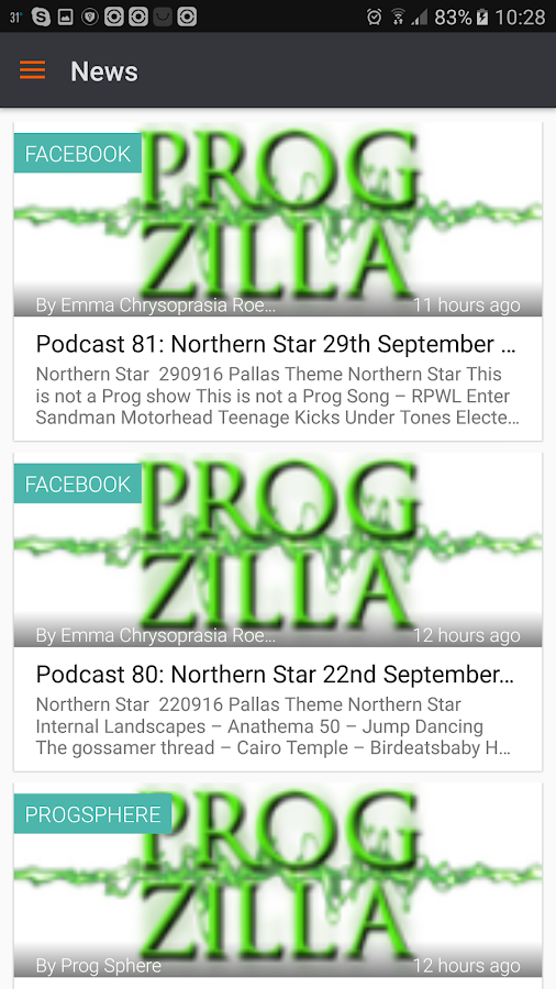 Progzilla Radio- screenshot