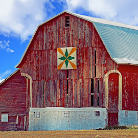 Red Barn by Bill Diller - Buildings & Architecture Other Exteriors ( red, quilt, michigan, barn, farm country, farm, country living, red barn, quilt barn )