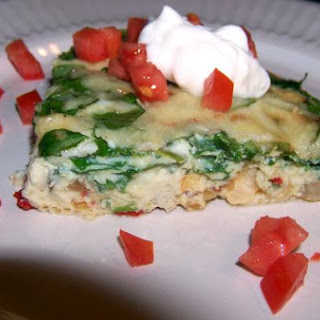 Light and Healthy Shrimp and Spinach Crustless Quiche.