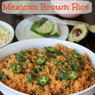 Mexican Rice made with Brown Rice.