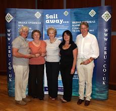 Photo: Winners of the Swiss teams, Richard Jephcott, Pam Pearce, Dodo Georgevic & John Sansom.